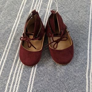 Old Navy 18-24m Maroon Lace Up Shoes